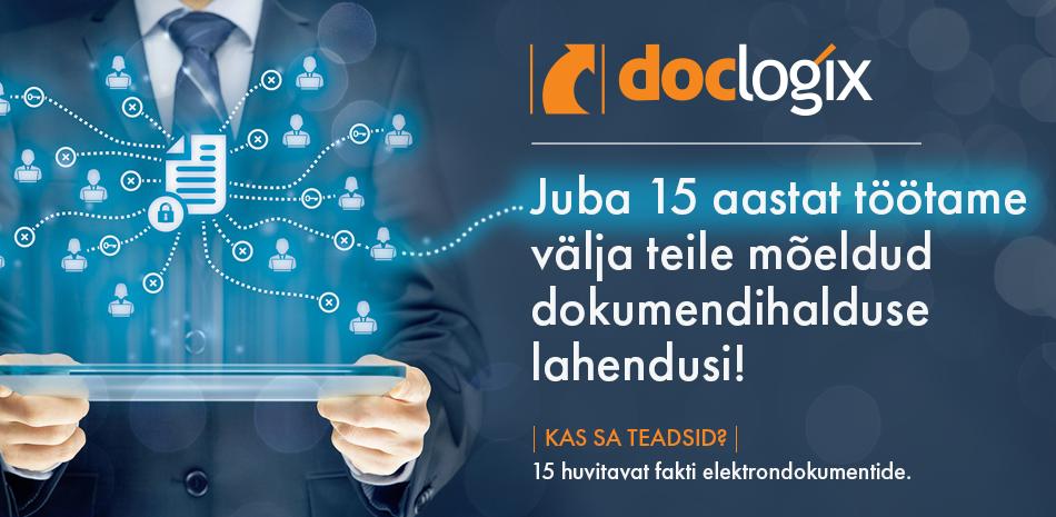 DocLogix tähistab tänavu 15. juubelit!